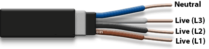 4 core electrical cable