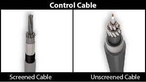 Screened cable and unscreened cable